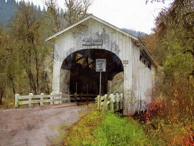 Photograph - Harris Covered Bridge 1929 by Thom Zehrfeld