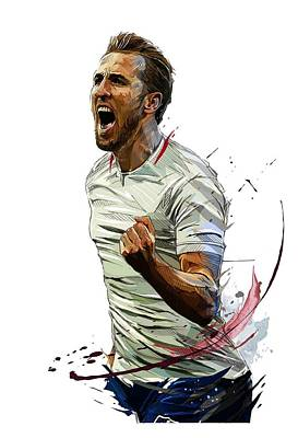 Harry Kane Wall Art - Digital Art - Harry Kane Art by Penta Kros