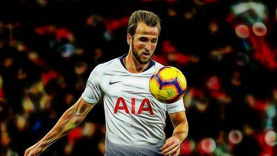 Harry Kane Wall Art - Mixed Media - Harry Kane by Marvin Blaine