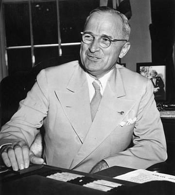 Photograph - Harry S Truman by Fox Photos