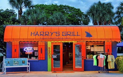 Photograph - Harry's Grill by HH Photography of Florida