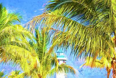 Photograph - Harvest Caye Palms by Alice Gipson