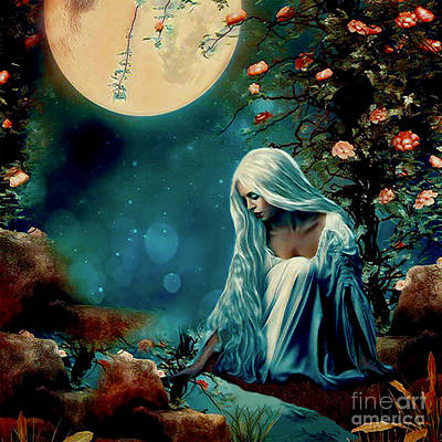 Digital Art - Harvest Moon by Kathy Kelly
