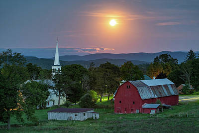 Photograph - Harvest Moon by Michael Blanchette