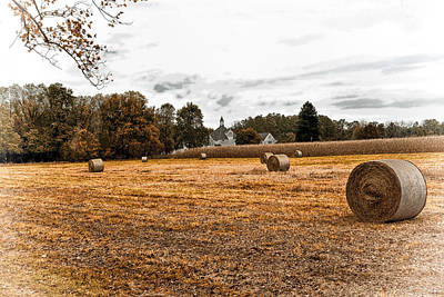 Whats Your Sign - Harvest Time - Hay Bales by James DeFazio