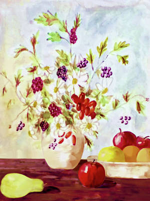 Harvest Time-still Life Painting By V.kelly Art Print