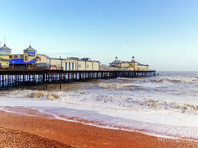Photograph - Hastings Pier Before The Fire by Terri Waters