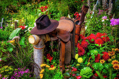 Photograph - Hat Saddle And Gun by Garry Gay