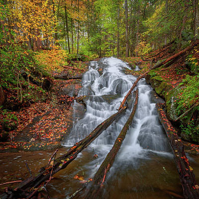 Photograph - Hatch Brook Falls Autumn by Bill Wakeley