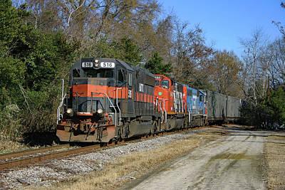 Photograph - Hatx 516 Train Color by Joseph C Hinson Photography