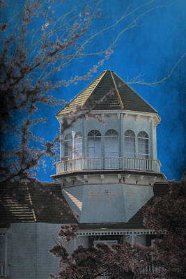 Photograph - Haunting Gothic Building On Cobalt by Colleen Cornelius