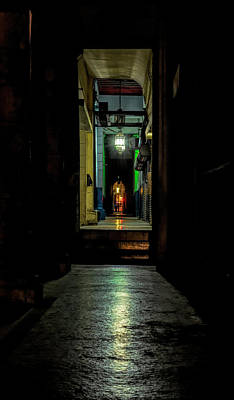 Wall Art - Photograph - Havana Cuba Nighttime Alley by Joan Carroll
