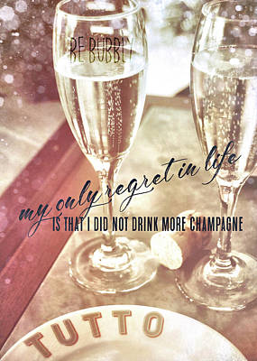 Photograph - Have No Regrets Quote by JAMART Photography