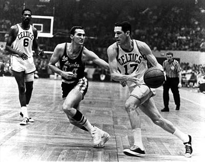 Photograph - Havlicek Drives Past West by Dick Raphael