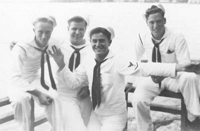 Moody Trees - Hawaii Navy Sailors Men Uniform Affectionate 40s 40s WWII WW2 by Celestial Images