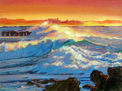 Painting - Hawaii Surf by David Lloyd Glover
