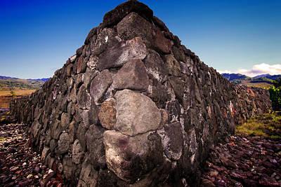 Photograph - Hawaiian Rock Wall by Max Huber