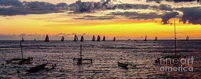 Photograph - Hawaiian Sunset - Honolulu, Oahu, Hawaii by D Davila