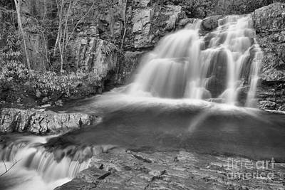 Photograph - Hawk Falls Black And White by Adam Jewell