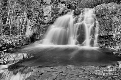 Photograph - Hawk Falls Canyon Black And White by Adam Jewell