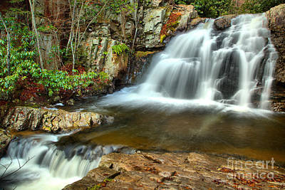 Photograph - Hawk Falls Cascades by Adam Jewell