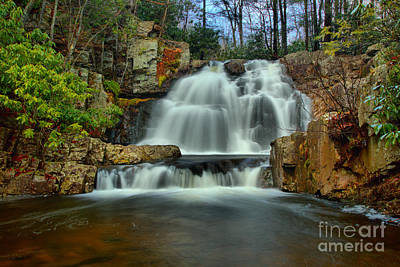 Photograph - Hawk Falls Lush Landscape by Adam Jewell