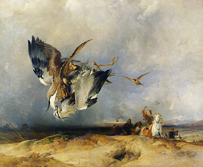 Painting - Hawking In The Olden Time by Edwin Landseer