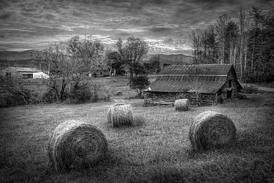 Photograph - Hay Barn Black And White by Debra and Dave Vanderlaan