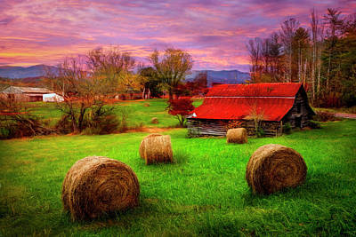 Photograph - Hay Barn In Hdr Detail by Debra and Dave Vanderlaan