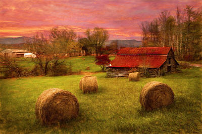 Photograph - Hay Barn In Watercolors by Debra and Dave Vanderlaan