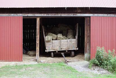 Photograph - Hay Wagon by George Sheldon