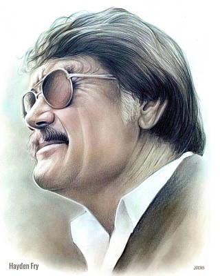 Target Threshold Painterly - Hayden Fry - Color by Greg Joens