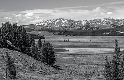 Photograph - Hayden Valley Landscape Black And White by Dan Sproul