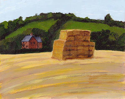 Painting - Haystack In The English Countryside by Tina Lewis