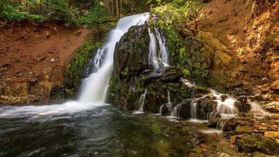 Photograph - Hazel Creek Falls #2 by Jack Peterson