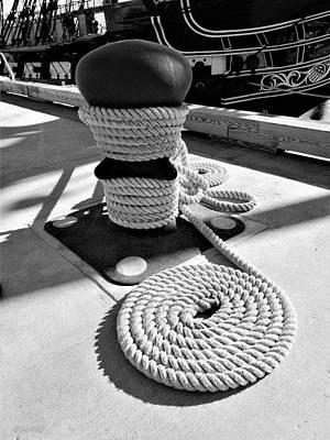 Photograph - Mooring Old Ironsides  by Rob Hans