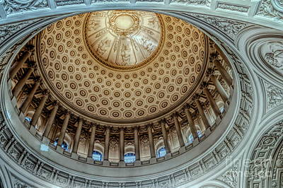 Photograph - Hdr Superb City Hall Dome Up Close San Francisco  by Chuck Kuhn