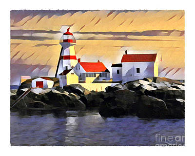 Digital Art - Head Harbour Light, Campobello, NB by Art MacKay