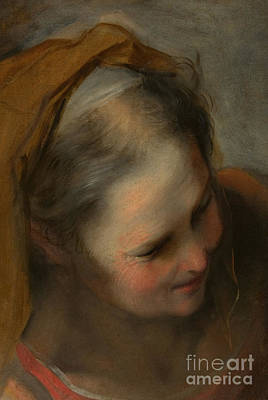 Painting - Head Of An Old Woman Looking To Lower Right, Saint Elizabeth by Federico Barocci