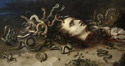 Gorgon Wall Art - Painting - Head Of Medusa, 1617 by Peter Paul Rubens