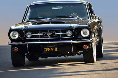 Photograph - Head-on Mustang by Bill Dutting