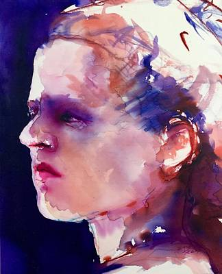 Painting - Head Study Of Christine by Barbara Pease
