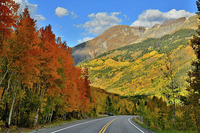 Photograph - Heading North On Fall Colored Million Dollar Highway by Ray Mathis