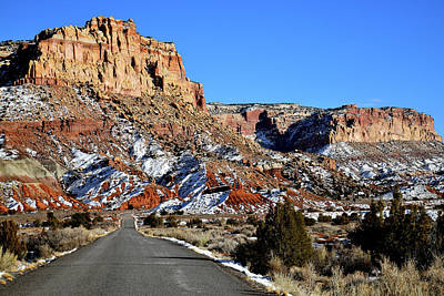Photograph - Heading South On Scenic Drive In Capitol Reef Np by Ray Mathis
