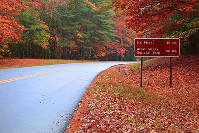 Photograph - Heading To Pisgah Or The Great Smoky Mountain National Park On The Blue Ridge Parkway In Autumn by Carol Montoya