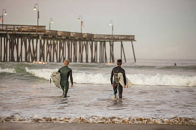 Photograph - Heading To Surf Pismo Beach  by John McGraw