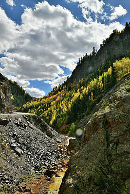 Photograph - Heading Up To Red Mountain Pass by Ray Mathis