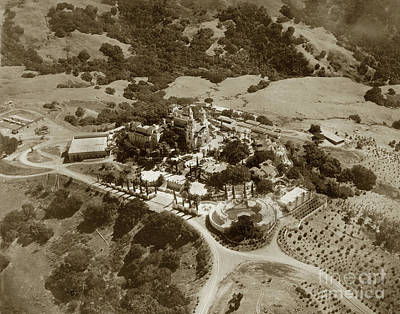 Photograph - Hearst Castle In San Simeon, California Circa 1940 by California Views Archives Mr Pat Hathaway Archives