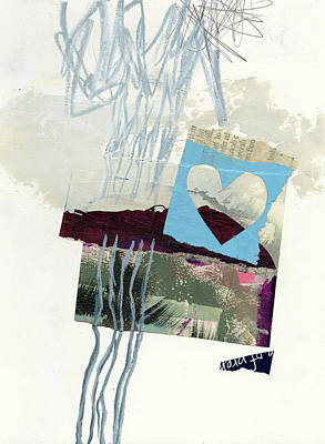 Collage Painting - Heart #36 by Jane Davies