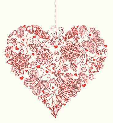 Heart Background Art Print by Pworld